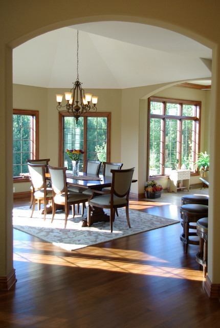 Woodcrest residence traditional dining room for Dining room tables milwaukee
