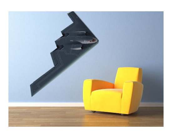 Military 3D Wall Stickers of B2 Strategic Bomber - 3D Military Wall Stickers of B-2 Strategic Bomber