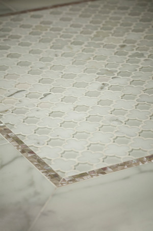 Vetromarmi Arpell Bianco MosaicTile traditional bathroom tile