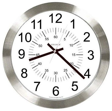 verichron stainless steel wall clock in silve contemporary wall clocks by ivgstores. Black Bedroom Furniture Sets. Home Design Ideas