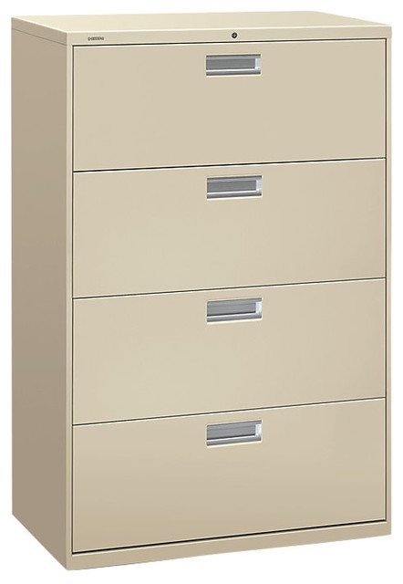 Brigade 600 4-Drawer Lateral File Cabinet - Contemporary - Filing Cabinets And Carts - by ...
