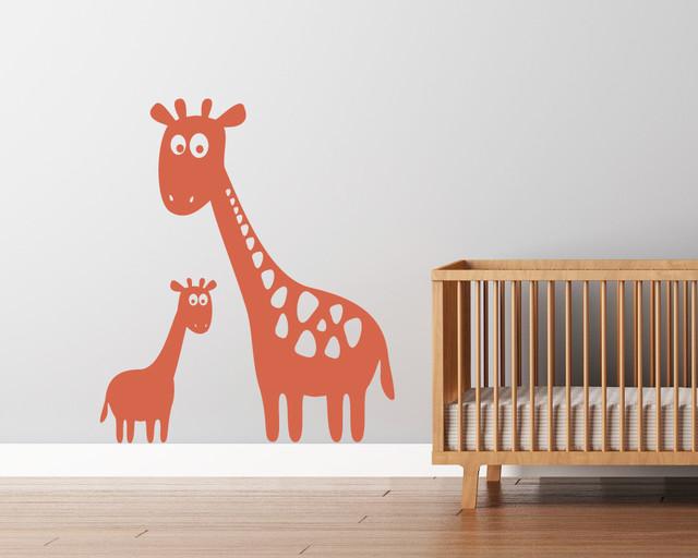 Giraffe Vinyl Wall Decal contemporary-wall-decals