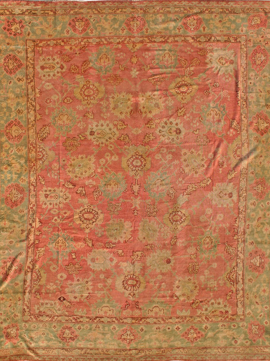 "Antique Turkish Oushak Carpets - #18500 antique Turkish Oushak carpet 13'10"" x 16'8"""