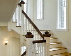 Would one paint or stain the banister on a staircase? I have an old ...