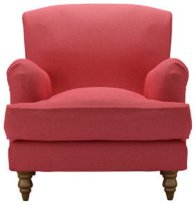 Snowdrop Armchair, Coral House Textured Cotton modern-accent-chairs