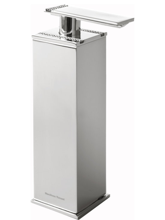 Manillons Torrent - Table soap dispenser with swarovski crystal. - Table soap dispenser