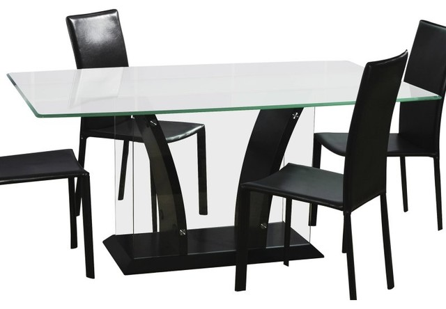 Chintaly Flair Rectangular Glass Top Dining Table Multicolor - CTY294 contemporary-dining-tables