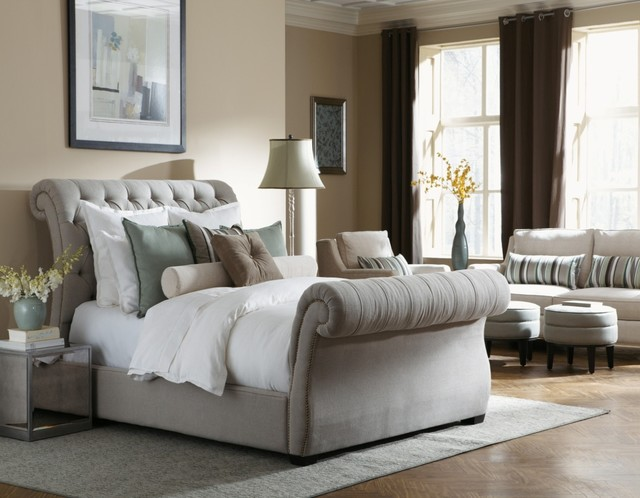Bentley Upholstered Bed Traditional Sleigh Beds