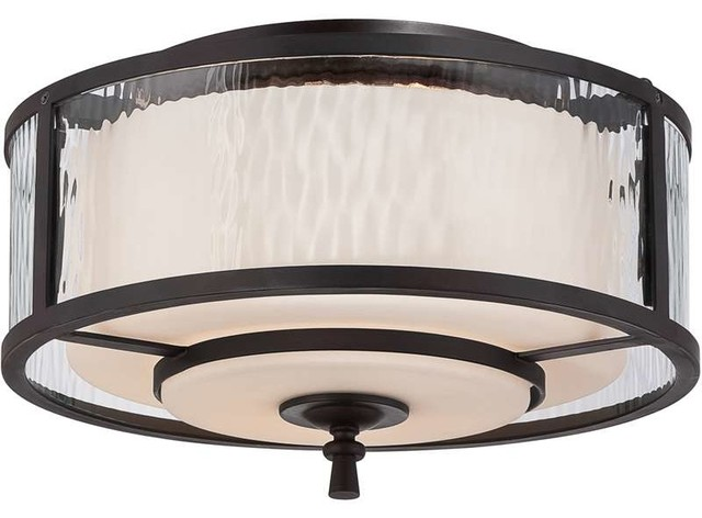 Quoizel Lighting Ads1615dc Adonis Flush Mount Ceiling Light In Dark Cherry Transitional