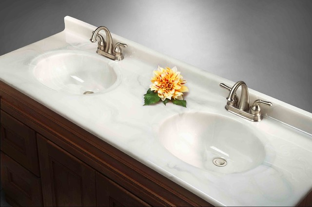 Imperial Satin Stone Vanity Top Traditional Vanity Tops And Side Splashes Chicago By