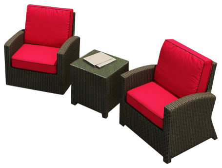 Barbados 3 Piece Modern Patio Chat Set, Flagship Ruby Cushions modern-patio-furniture-and-outdoor-furniture