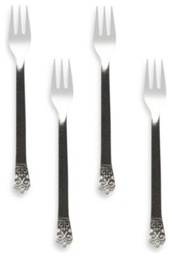 Avalon Cocktail Forks (Set of 4) contemporary-flatware