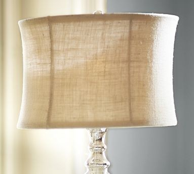 burlap flared drum lamp shade small bleached. Black Bedroom Furniture Sets. Home Design Ideas