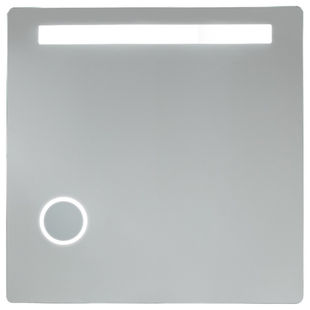 Back-Lighted Mirror With 1 Horizontal Light and 3x Magnification contemporary-bathroom-mirrors