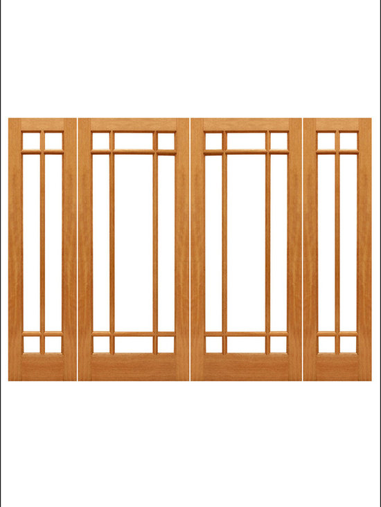 AAW Inc. - French Doors Model # Mahogany 9 Marginal - Traditional Styled French doors in Mahogany.  These doors are stainable and paintable and come in mulitiple sizes in options with including Low-E Glass.  These doors can be used as interior (available under our Interior Glass Doors)  or exterior doors.