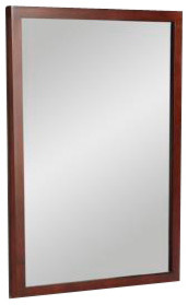 KOHLER K-2746-F25 Evandale Mirror in Sapele contemporary-bathroom-mirrors