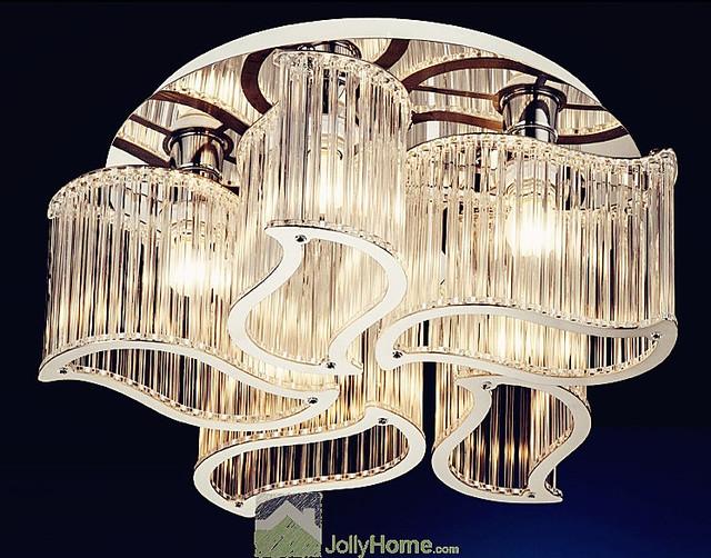 new crystal bedroom modern minimalist living room ceiling lamp led
