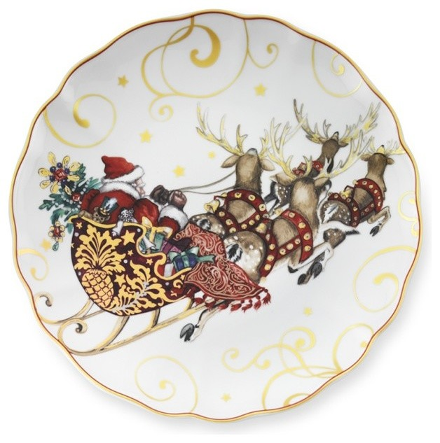 twas the night before christmas dinner plates - Decorative Christmas Plates