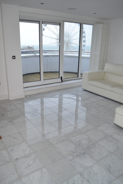 Marble floor cleaning and polishing Surrey modern-floor-tiles