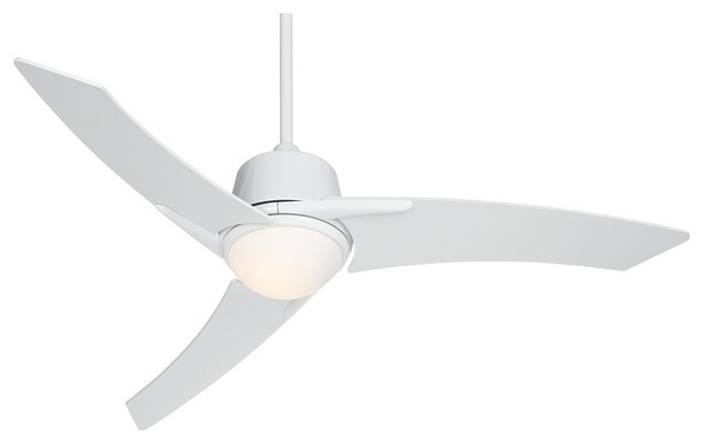 48 Casa Vieja Matrix White Ceiling Fan With Light
