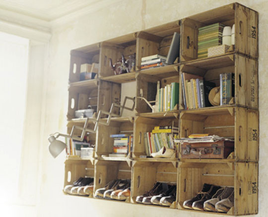 Apple Crate Shelving eclectic