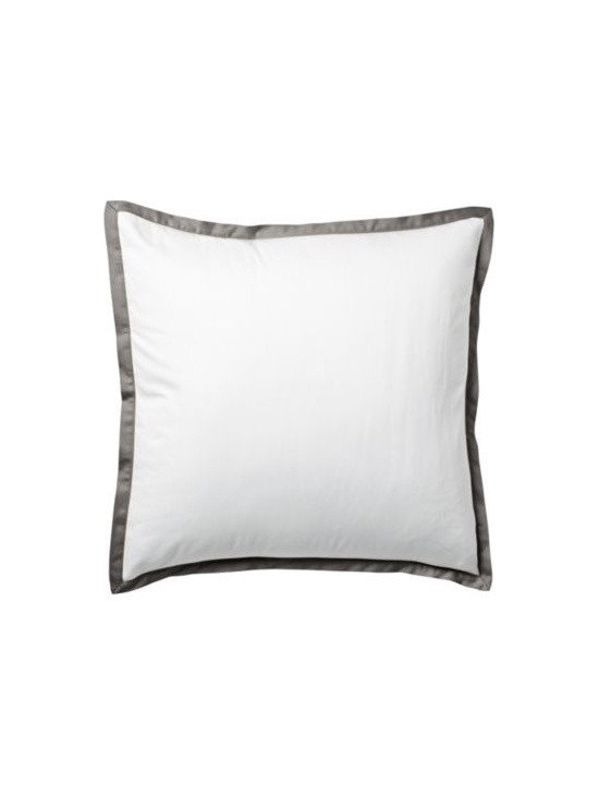Serena & Lily - Pewter Border Frame Euro Sham - For those who crave a quieter bed, this beautiful layering piece allows you to start simple and add on as you desire. Dial it up with sheets in a bold color and pattern, or keep it clean and classic whatever suits your style.