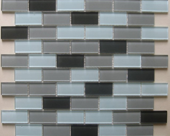 B15 Seafoam Green White Gray Mix Glass Mosaic Tile - Seafoam Green White Gray Mix Glass Mosaic Tile B15