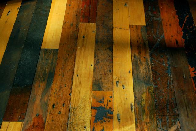 Reclaimed textile mill maple flooring modern hardwood for Reclaimed fir flooring seattle