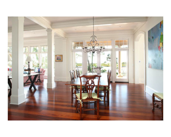 Wormy Rosemont - Our quest to provide high quality, solid, wood plank floors for the customer who appreciates traditional architecture and interior design has led us to seek out other unusual woods. In trying to serve this quality-oriented traditional market, we have discovered sources for valuable mahogany from which we are creating The Wormy Rosemount Plank floor. It is a wonderful compliment to our Antique Heart Pine floors. Mahogany millwork, such as raised paneling, has traditionally been used with heart pine floors in many 18th century houses. Some of these wonderful dwellings can be seen today on various historical house tours in Charleston, SC. Our Wormy Rosemount Plank floor is available in wide widths with a distressed appearance. Small, black worm holes are found randomly scattered in the rich, red mahogany creating a dramatic contrast in color.