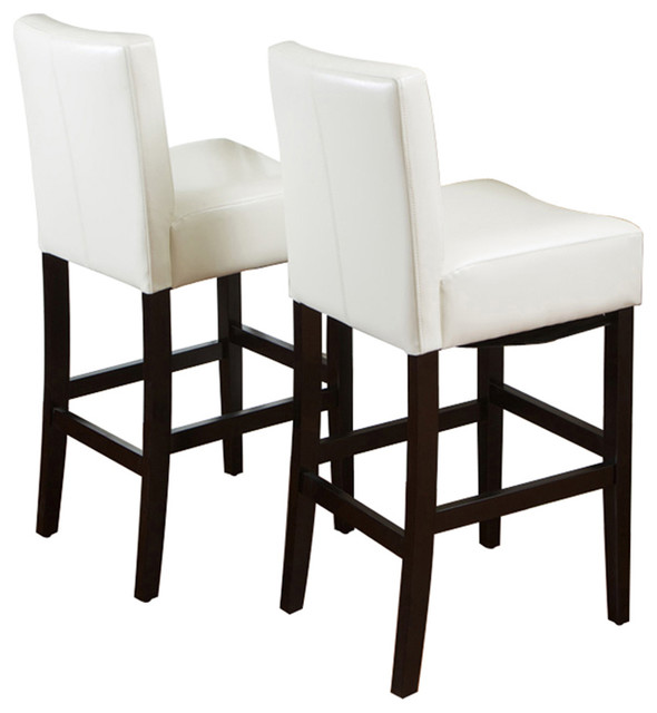 Lowry Leather Bar Stool (Set of 2) traditional-bar-stools-and-counter-stools
