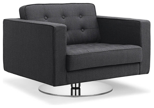 Chelsea Dark Grey Premium Arm Chair (Swivel) modern-armchairs-and-accent-chairs