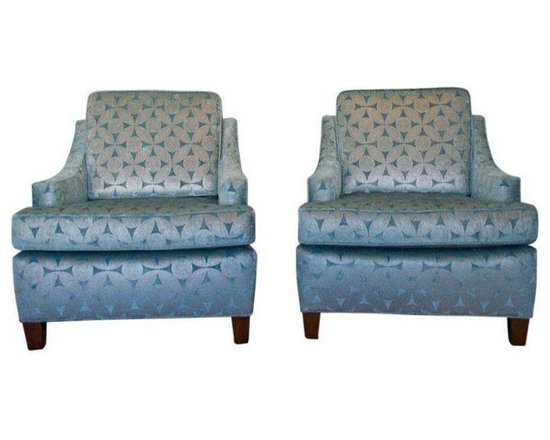 Mid-Century C. 1965 Club Chairs - Dimensions 31.0ʺW × 35.0ʺD × 35.0ʺH