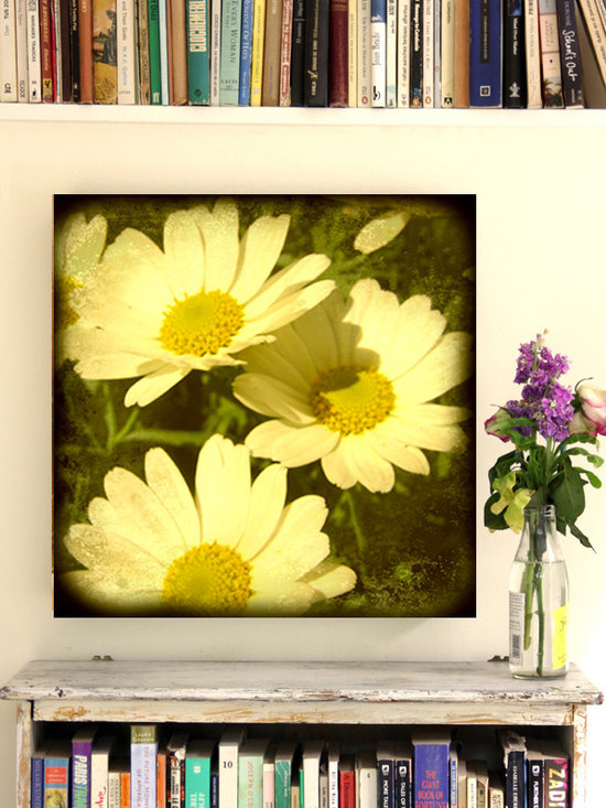 """DAISY FLOWERS CANVAS 20 X20"""" - Daisy flowers from my garden.This canvas is part of my canvas collection from my ETSY SHOP: ROSSANA'S ATTIC."""