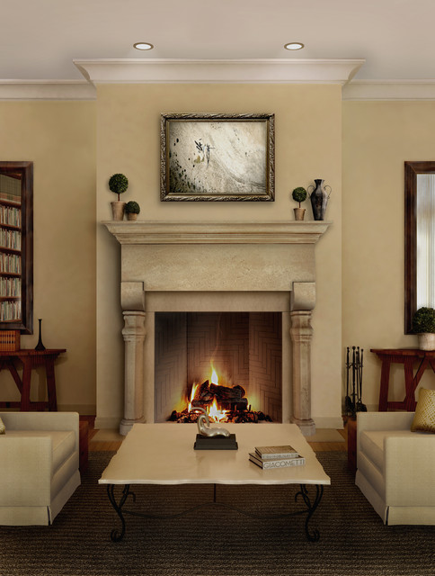 Chaminade Mantel Traditional Living Room