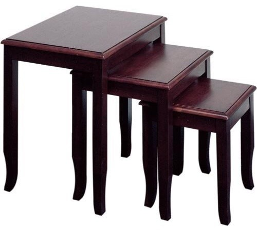 Office Star Products Merlot Nesting Table traditional-side-tables-and-end-tables