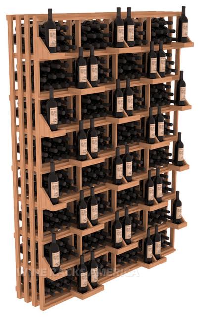 Rectangular Bin Wall Display 416 Bottle in Mahogany traditional-wine-racks