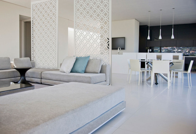 Redi-Screens dwelling Jeannies Walls dividing - Contemporary Tranquil Retreat - MyHomeIdeas.s - modern - screens and dwelling Jeannies Walls dividing - Contemporary Tranquil Retreat - MyHomeIdeas. dividers - Kitchen And Living Room Dividing Wall Ideas