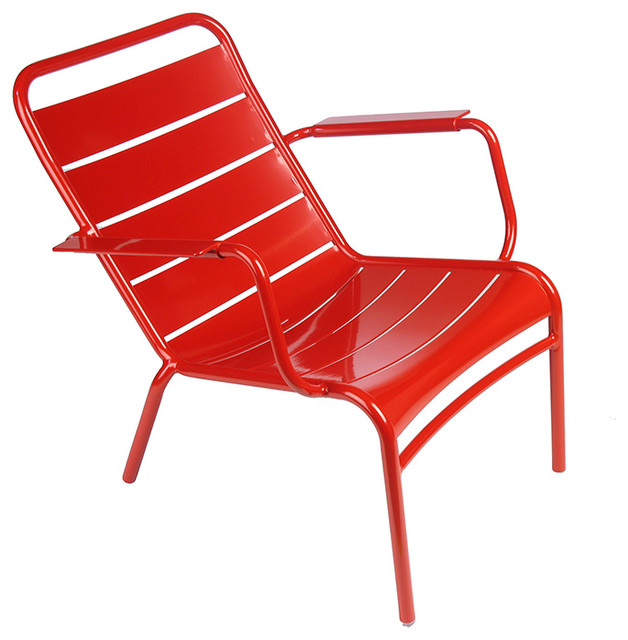 Fermob - Luxembourg Low Armchair Stocking modern-outdoor-chairs