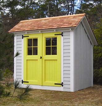 6 39 X 8 39 Stony Brook Saltbox Shed Modern Sheds Other