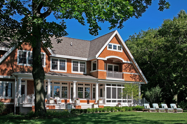 Shingle Style Cottage On Lake Michigan