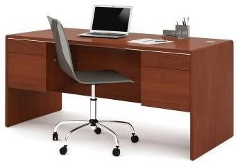 Bestar Fall Creek Executive Desk - Bordeaux contemporary-desks
