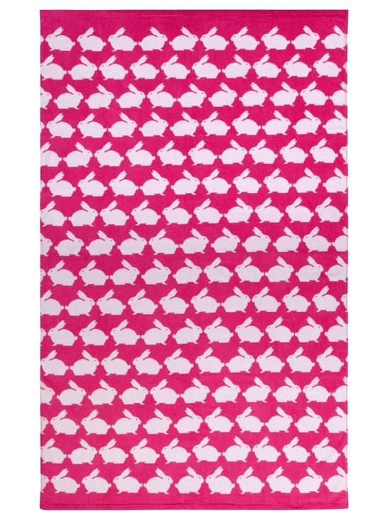 Anorak Kissing Rabbits Beach Towel -