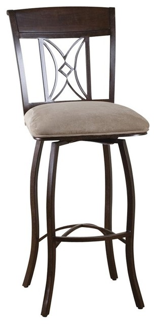 AHB Artista 30 in. Swivel Bar Stool Umber Multicolor - 130798UM-C07 contemporary-bar-stools-and-counter-stools