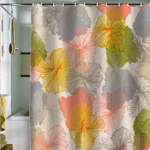 Bryant Park Chelsea Blooms Shower Curtain contemporary shower curtains