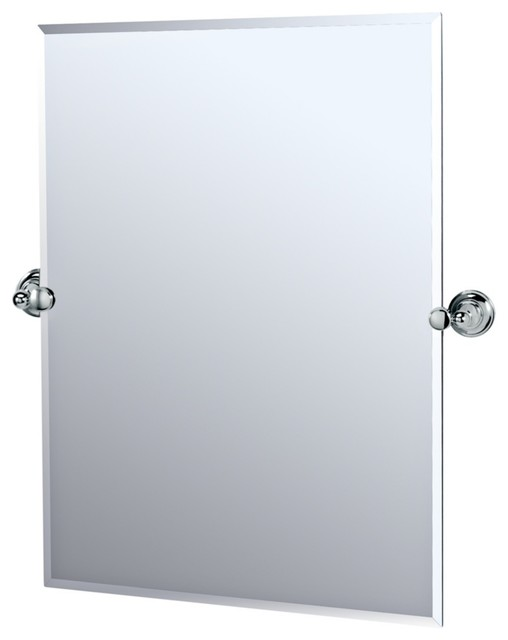 Chrome bathroom mirrors shop allen roth 24 in x 30 in chrome rectangular framed bathroom Polished chrome bathroom mirrors
