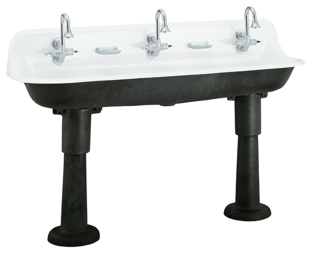 Kohler Brockway Wash Sink eclectic kitchen sinks