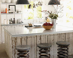Salvaged Material Kitchen eclectic-