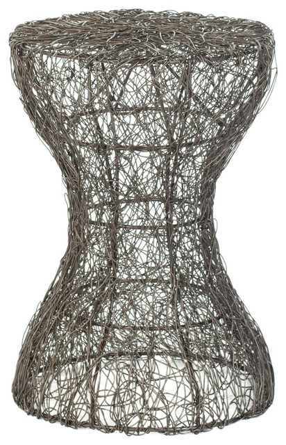 Safavieh Wire Zig Zag Weaved Stool X-A5054XOF contemporary-chairs