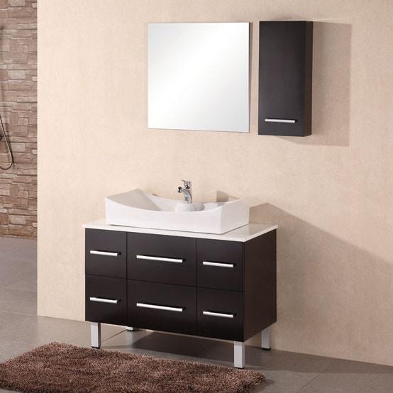 "Paris 36"" Espresso Finish Single Sink Vanity Set modern-bathroom-vanities-and-sink-consoles"