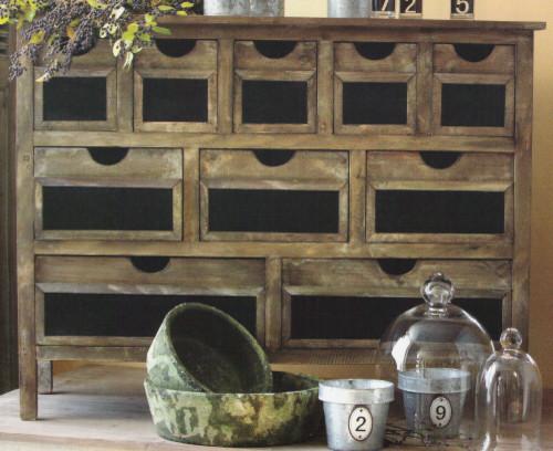 Wooden Chalkboard Hutch modern